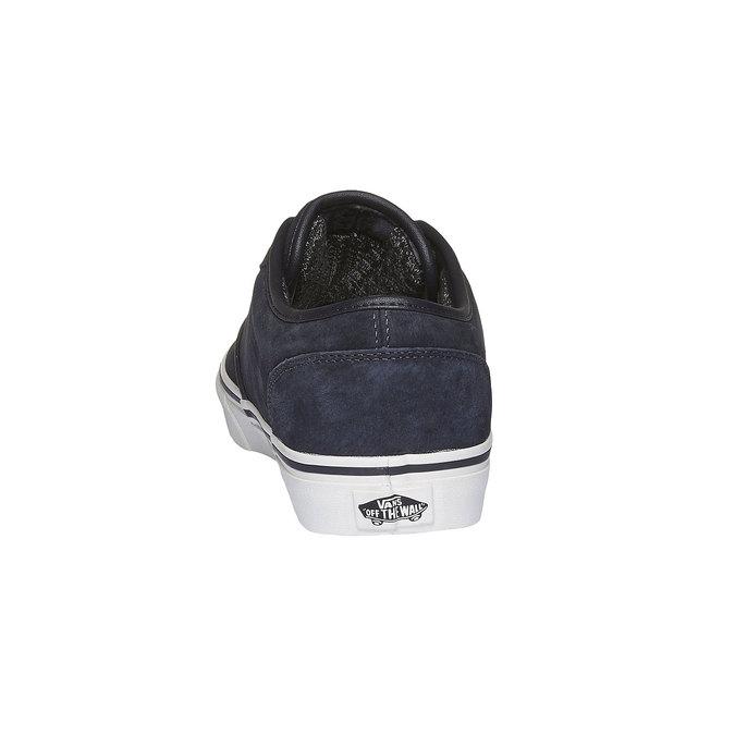 Męskie skórzane buty sportowe vans, czarny, 803-9300 - 17
