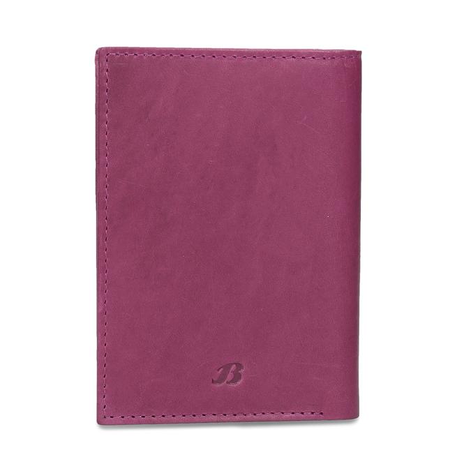 Skórzane etui na karty bata, czerwony, 944-5158 - 26