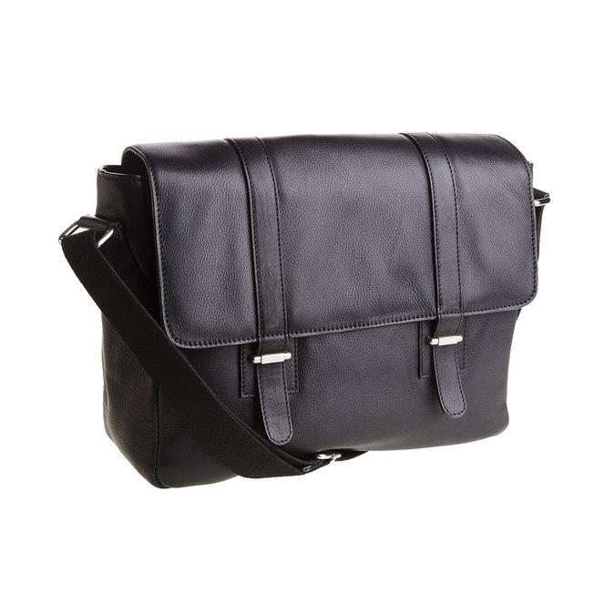 Męska skórzana torba bata, czarny, 964-6182 - 13