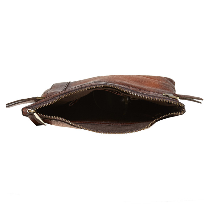 Męska skórzana torba Crossbody bata, brązowy, 964-4138 - 15