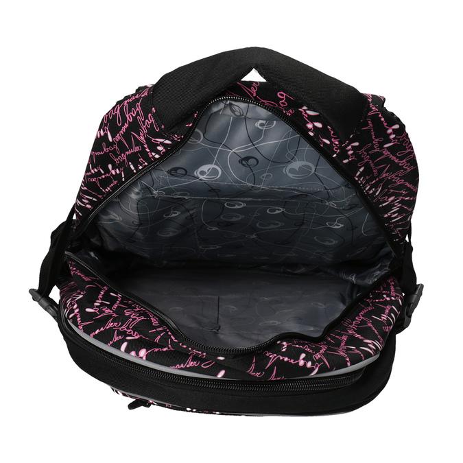 Plecak szkolny z deseniem bagmaster, czarny, 969-6602 - 17