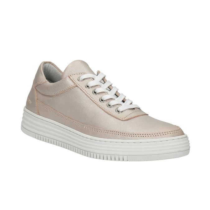 Damskie skórzane buty sportowe bata, różowy, 526-5612 - 13