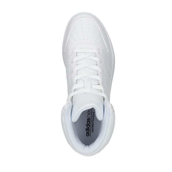 Białe trampki za kostkę adidas, biały, 501-1741 - 19
