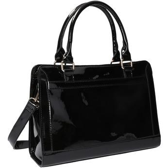 Czarna torebka ze złotymi detalami bata, czarny, 961-6610 - 13