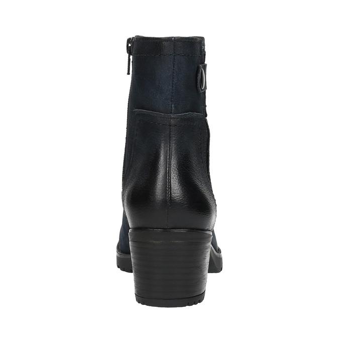 Botki damskie bata, niebieski, 696-9603 - 17