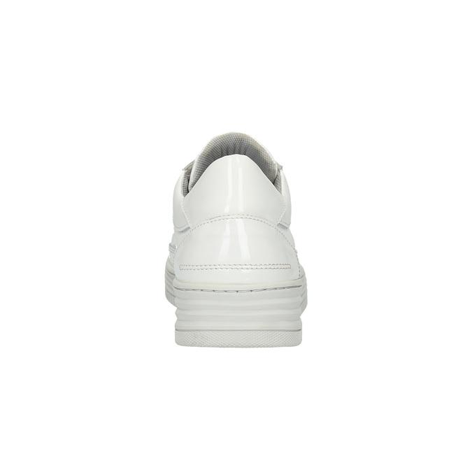 Białe trampki ze skóry bata, biały, 528-1632 - 17