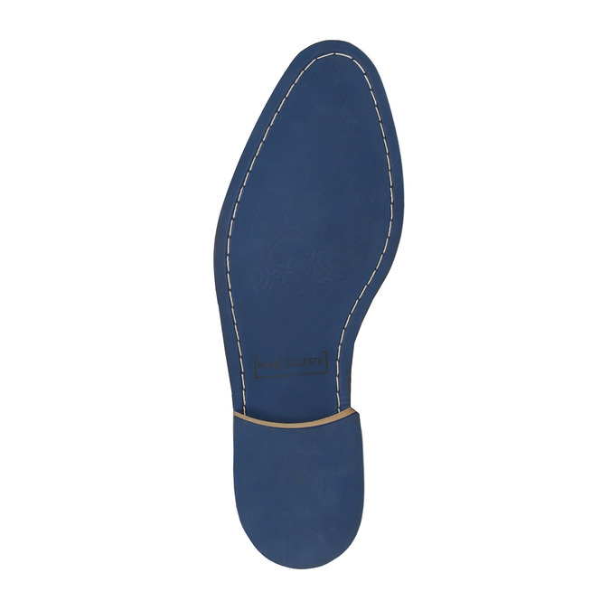 Półbuty ze skóry wnieformalnym stylu bata, brązowy, 824-4620 - 26