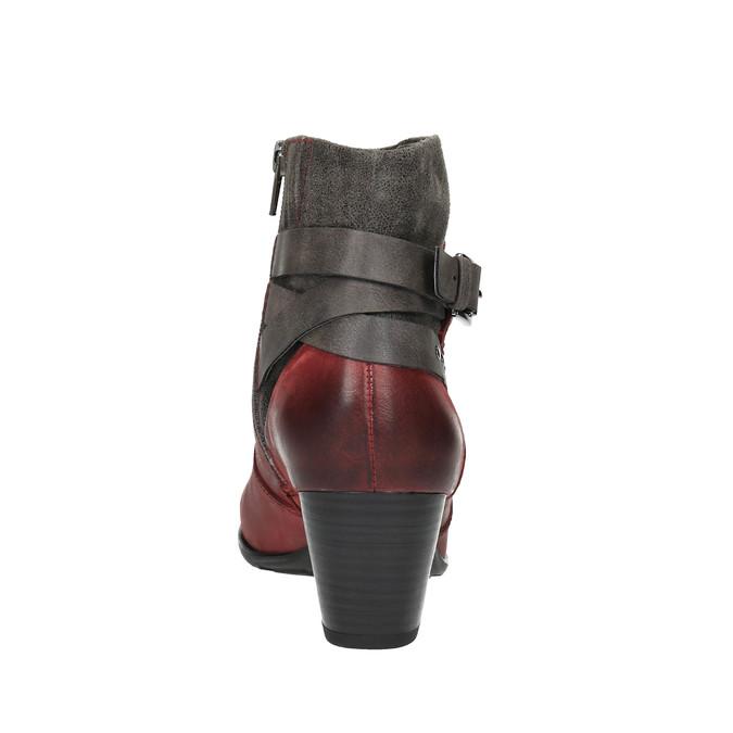Damskie ocieplane botki bata, czerwony, 696-5617 - 17