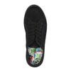 Czarne tenisówki na szerokiej podeszwie bata, czarny, 529-6630 - 19
