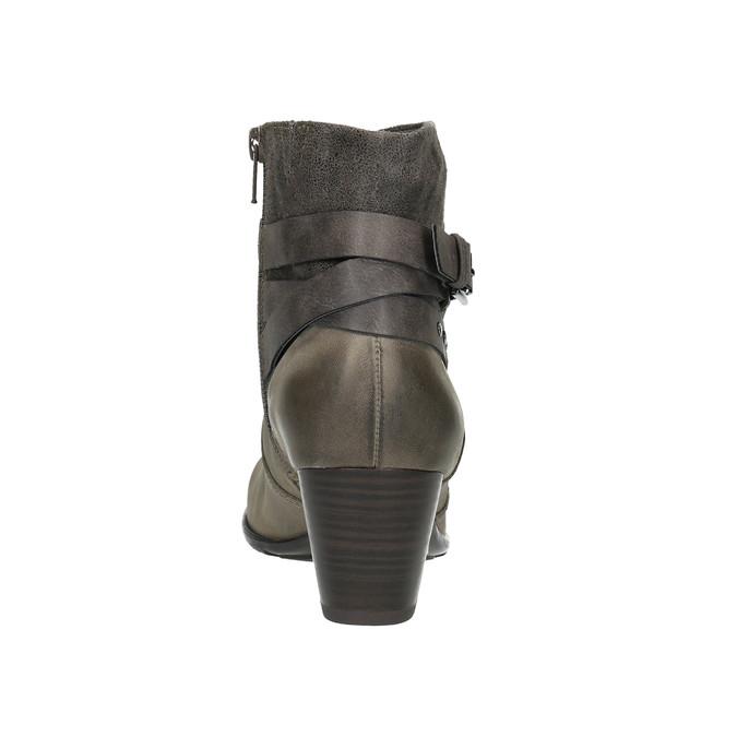 Damskie botki bata, szary, 696-2617 - 17