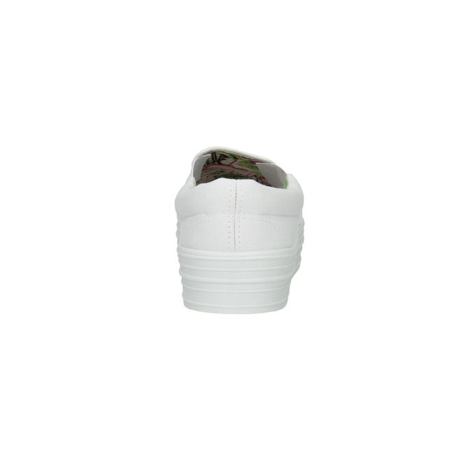 Białe buty Slip-on na szerokiej podeszwie bata, biały, 529-1631 - 17