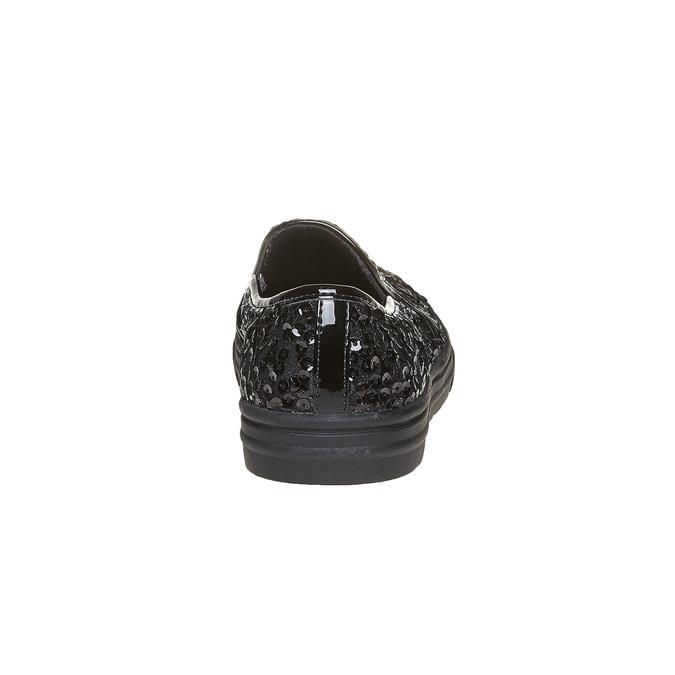 Dziecięce buty Slip-on z cekinami mini-b, czarny, 329-6229 - 17
