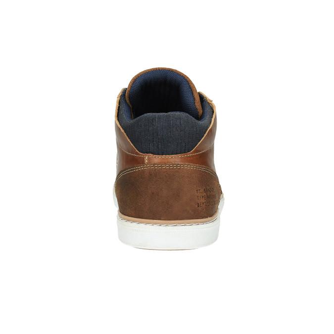 Skórzane trampki za kostkę bata, brązowy, 844-4621 - 17