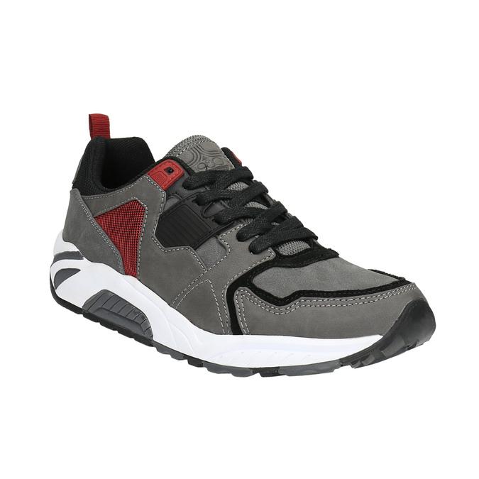 Męskie buty sportowe na solidnej podeszwie bata, szary, 841-2602 - 13