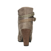 Botki damskie na wysokim obcasie bata, beżowy, 799-2603 - 17