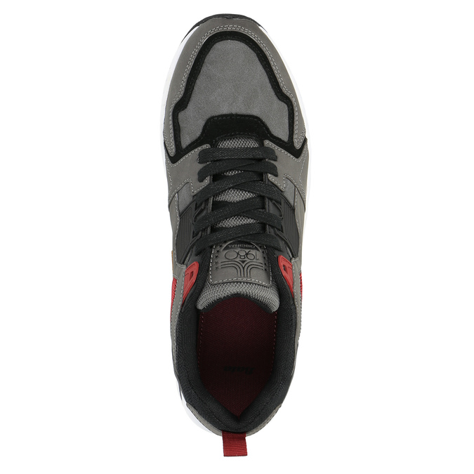 Męskie buty sportowe na solidnej podeszwie bata, szary, 841-2602 - 19