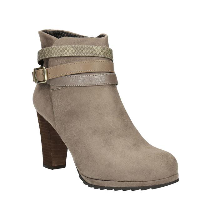 Botki damskie na wysokim obcasie bata, beżowy, 799-2603 - 13