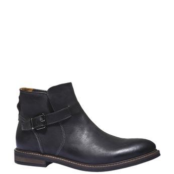 Skórzane buty do kostki bata, czarny, 894-6107 - 13