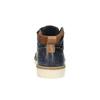 Skórzane trampki męskie za kostkę bata, niebieski, 846-9606 - 17