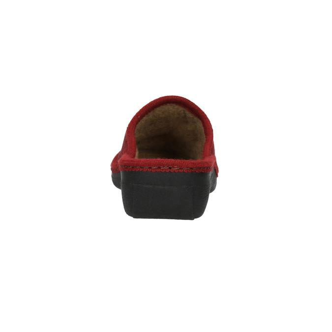 Kapcie damskie bata, czerwony, 579-5348 - 17