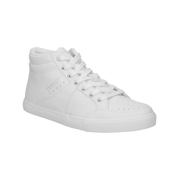 Białe trampki za kostkę power, biały, 501-1400 - 13