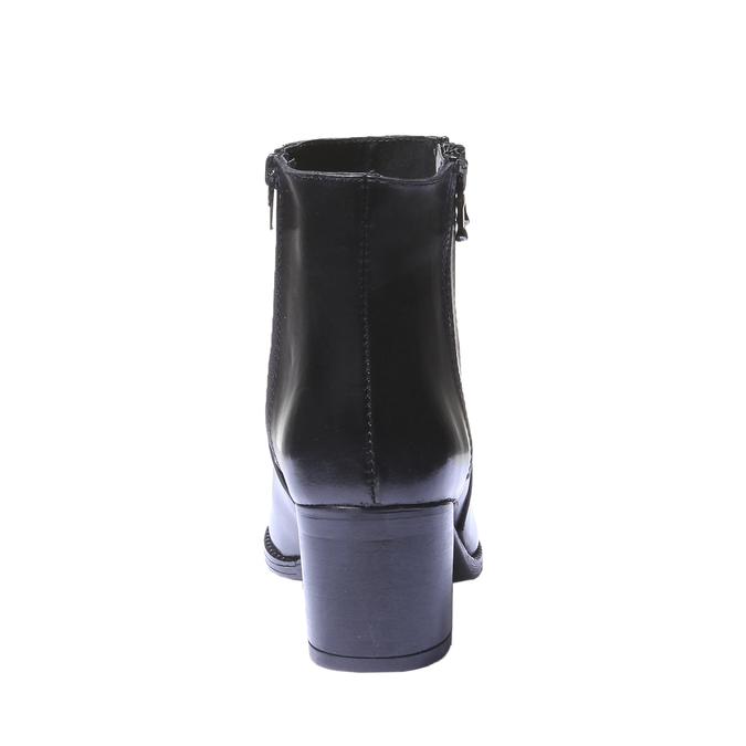 Skórzane botki bata, czarny, 794-6566 - 17