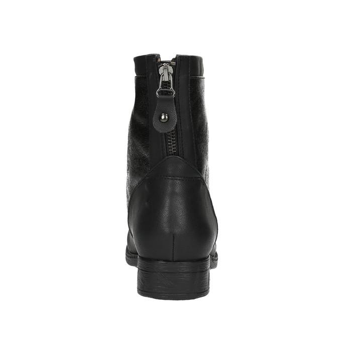 Damskie botki bata, czarny, 591-6609 - 17