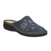 Damskie pantofle z haftem bata, szary, 579-2280 - 13