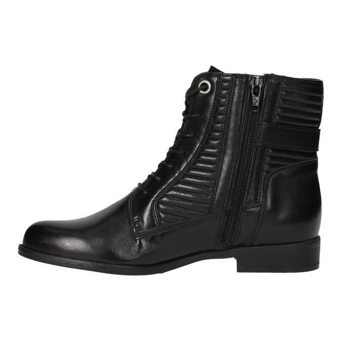 Damskie botki bata, czarny, 594-6617 - 26