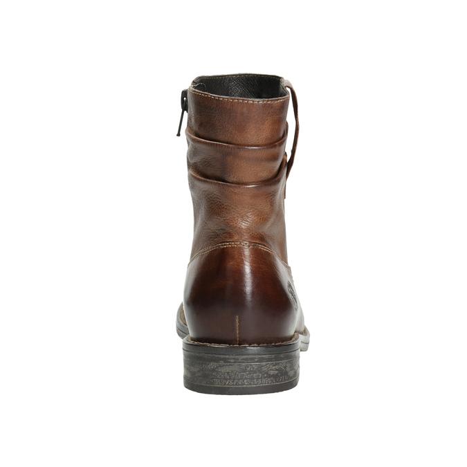 Skórzane botki kowbojki bata, brązowy, 594-4611 - 17