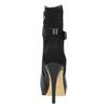 Skórzane botki na szpilce bata, czarny, 794-6630 - 17
