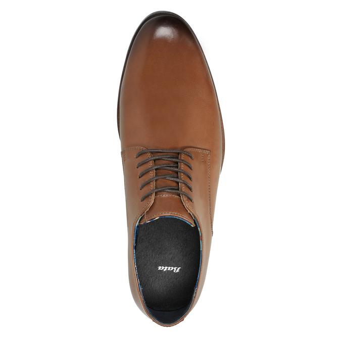 Męskie skórzane półbuty bata, brązowy, 826-3643 - 19