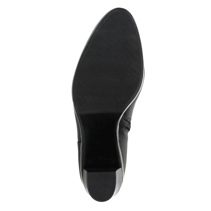 Botki damskie na obcasie bata, czarny, 694-6632 - 26