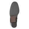 Skórzane buty do kostki na obcasie bata, brązowy, 794-4635 - 26