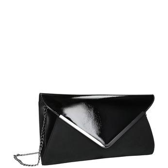 Czarna kopertówka ze srebrnym łańcuszkiem bata, czarny, 961-6221 - 13