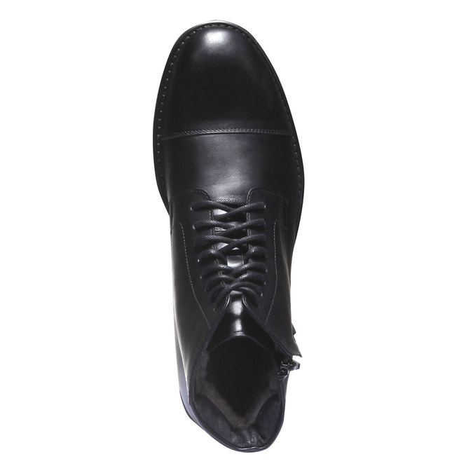 Skórzane botki o kroju Derby bata, czarny, 894-6259 - 19