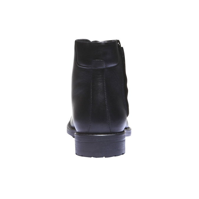 Skórzane botki o kroju Derby bata, czarny, 894-6259 - 17
