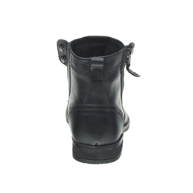 Skórzane botki bata, czarny, 894-6449 - 17