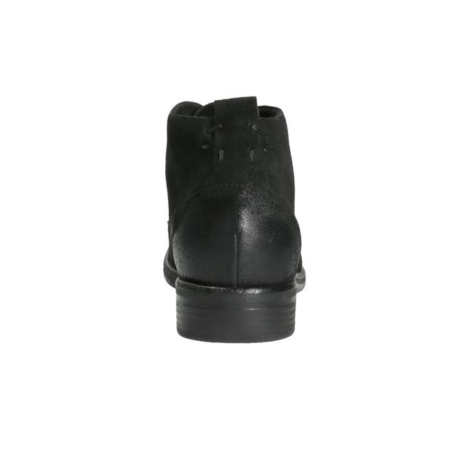 Zamszowe buty za kostkę bata, czarny, 846-9611 - 17
