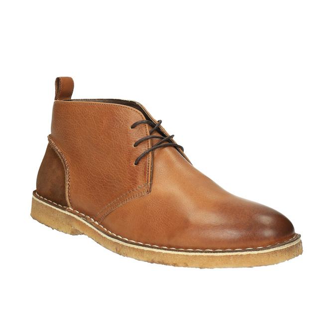 Skórzane buty typu chukka bata, brązowy, 824-3665 - 13