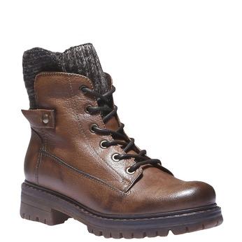 Skórzane botki bata, brązowy, 596-4104 - 13