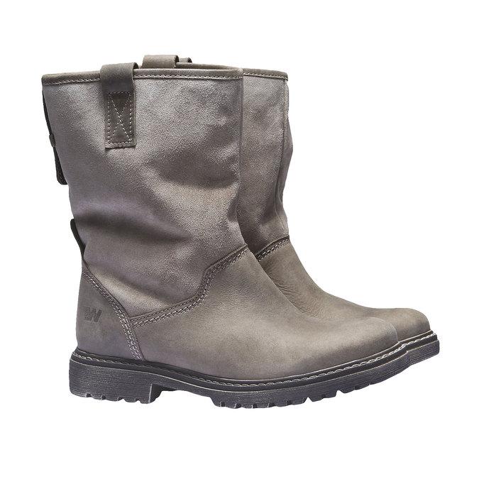 Skórzane buty z antypoślizgową podeszwą weinbrenner, brązowy, 596-3100 - 26
