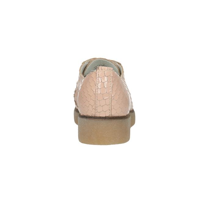 Damskie skórzane półbuty bata, różowy, 526-5613 - 17