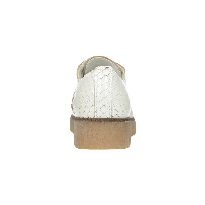 Jasne skórzane półbuty bata, biały, 526-1613 - 17