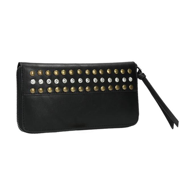Damski portfel z nitami bata, czarny, 941-6140 - 13