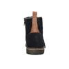 Skórzane botki bata, niebieski, 893-9651 - 17