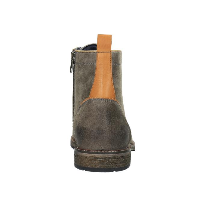 Męskie botki bata, szary, 893-2651 - 17