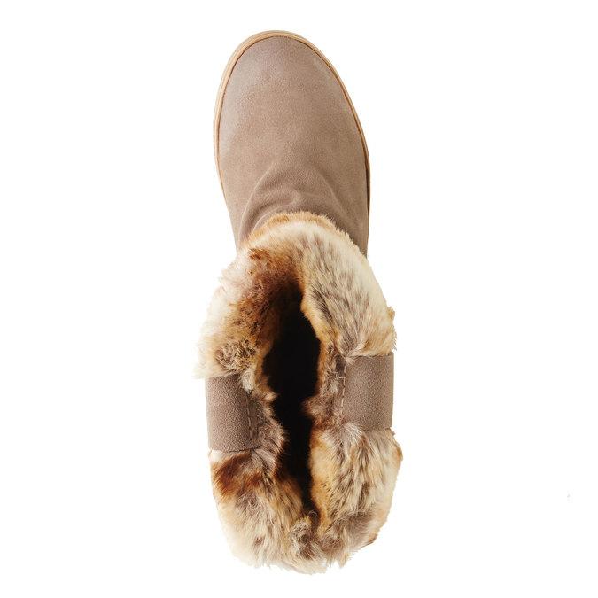 Skórzane botki bata, szary, 593-2104 - 19
