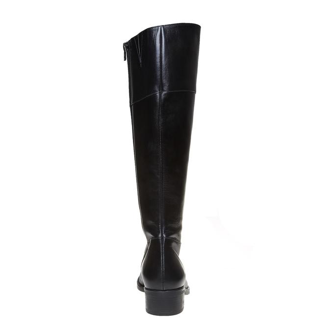 Wysokie skórzane kozaki bata, czarny, 594-6223 - 17