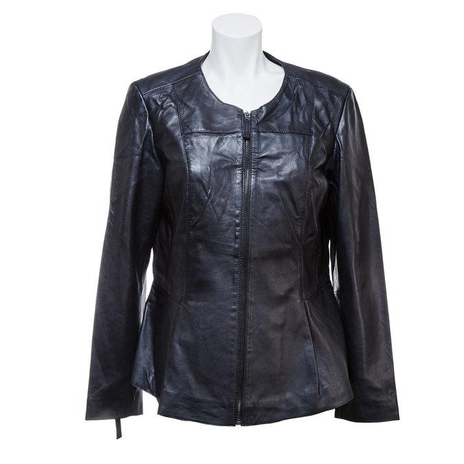 Czarna kurtka damska ze skóry bata, czarny, 974-6173 - 13